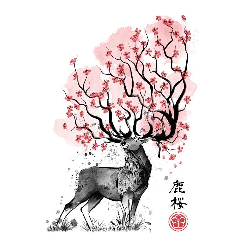 Sakura Deer de Pampling.com